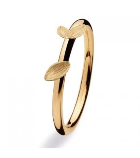 Spinning ring 8 kt guld Lovely leafs